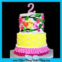 Sweet Tweets 2nd Birthday Cake