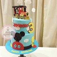 Mickey train cake