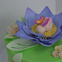 Anne Geddes-Style Baby Shower Cake