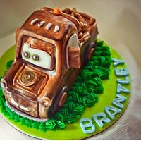 Mater Birthday Cake with 3-D Mater Baby Smash Cake by Jennifer's Edible Creations