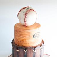 Vintage Stylized Baseball Cake