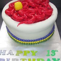 Mardi Gras Crawfish Cake