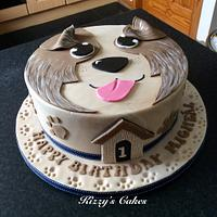 Collie Cake for a 1st Birthday Boy