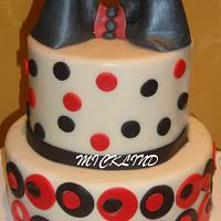 RED & BLACK BIRTHDAY THEMED CAKE