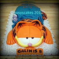 Garfield Cake with Blanket