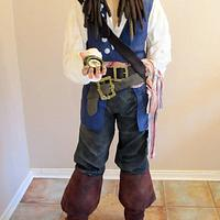 5ft 5 Almost Life size Johnny Depp as Jack Sparrow Cake!