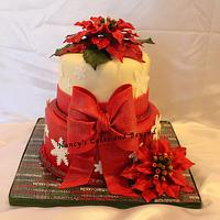 Christmas Poinsettia Cake