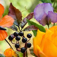 Autumn sugar flowers