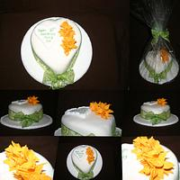 10th Anniversary Cake - Daffodils