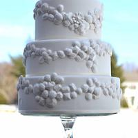 Winter Jeweled Wedding Cake