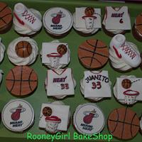 Miami Heat BasketBall Cupcakes