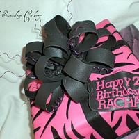 big bow birthday cake
