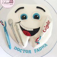 Dentist graduate cake