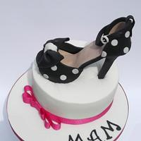Shoe cake for my mother