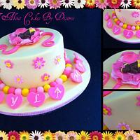 Baby Blossom Naming Day Cake
