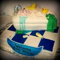 Baby Shower Bathtub Cake