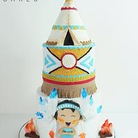 Little Indian tepee cake