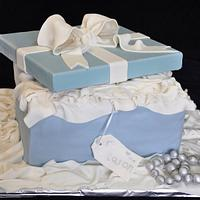 Tiffany & Co style cake
