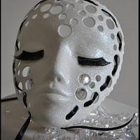 Sugar mask wedding cake