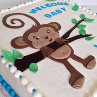 Monkey Baby shower cake by taralynn