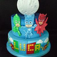 pj masks cake - cakezuccherofondente - cakesdecor