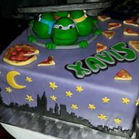 Teenage Mutant Ninja turtles cake.