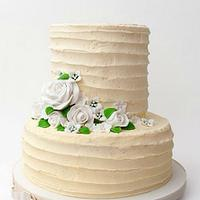 Rustic white/cream wedding