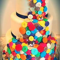 Quirky Button Wedding Cake