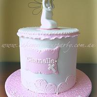 White Angel Baptism Cake