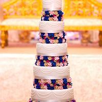 A very tall cake!