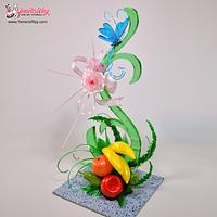 Vine Structured Isomalt Centerpiece