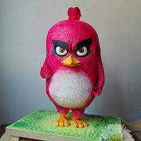 Angry birds movie cake