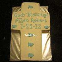 Allen's Baptism Cake