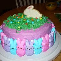 Our peep cake