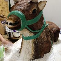 Reindeer Sculpture Cake