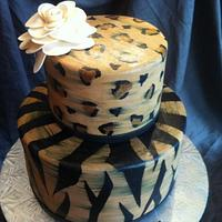 Animal Print w/ White Flower