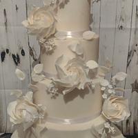 Classic whimsical wedding cake