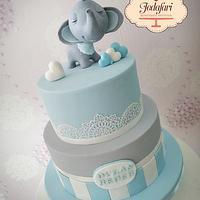 Torta elefante bebe