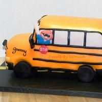 All Aboard Granny's School Bus Birthday Cake!