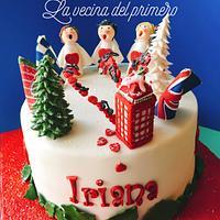 Angels christmas cake