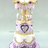 Purple Carousel Cake