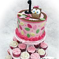Owl Theme first Birthday
