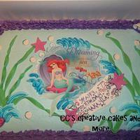 lil mermaid cake