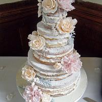Naked Wedding Cake.