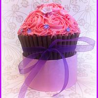 My first Giant cupcake by Jolene Driver