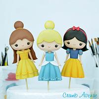 Cute Princess Cake Toppers