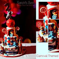 Carnival Themed Birthday Cake
