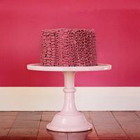 Fuscia Ruffle Cake