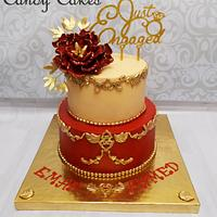 Red engagement cake :)