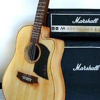 Marshall Cake and Guitar